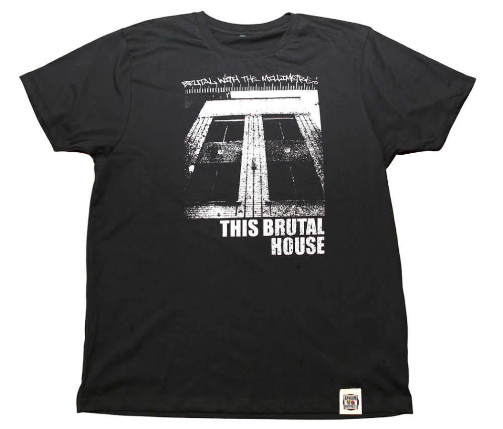 This Brutal House  on Black Organic T Shirt by Random Happiness